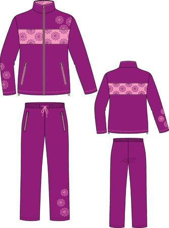 Sports de costume, consistant en une veste et pantalon Vecteurs