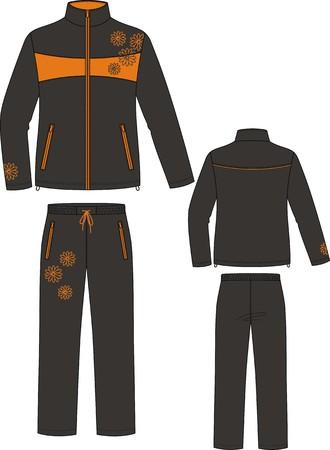 Suitensport, bestaande uit een jas en een broek