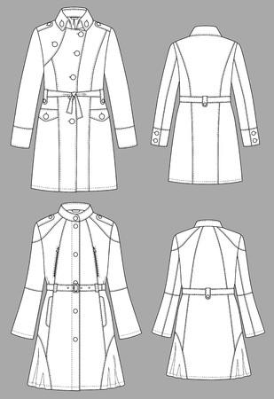 Raincoat female a long sleeve and pockets