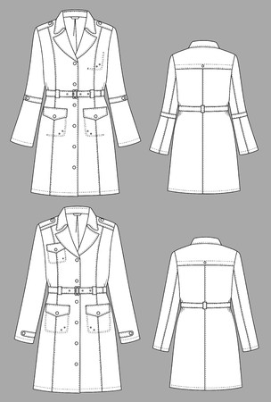 raincoat: Raincoat female a long sleeve and pockets