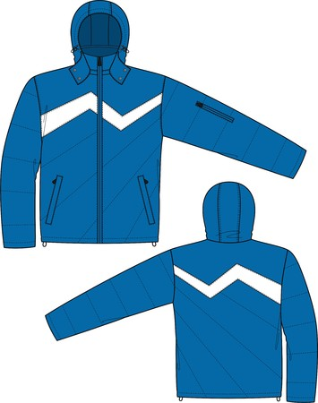 Jacket sports with a long sleeve and pockets Stock Vector - 8931844