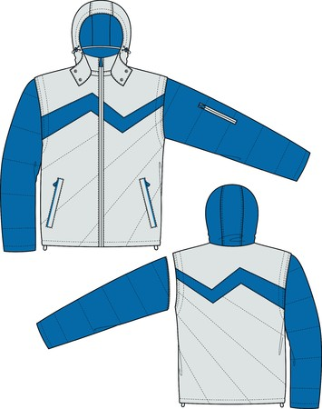 Jacket sports with a long sleeve and pockets Stock Vector - 8931849