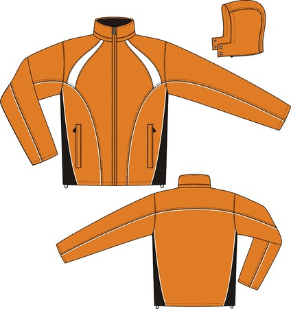 jacket: Jacket sports with a long sleeve and pockets