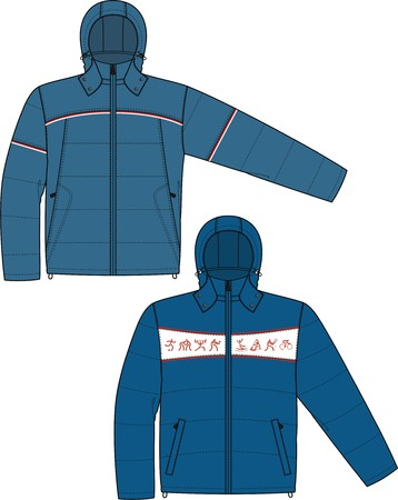 warm clothes: Jacket sports with a long sleeve and pockets