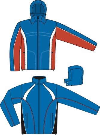 Jacket sports with a long sleeve and pockets Stock Vector - 8931864