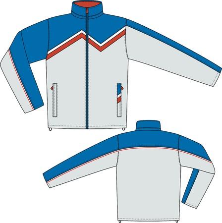 Sport giacca con una manica lunga e tasche Vettoriali