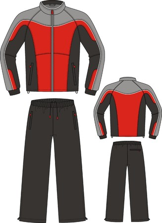 outset: The suit sports consists of a jacket and trousers Illustration