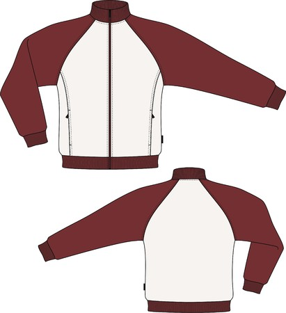 claret: Jacket knitted with a long sleeve and pockets