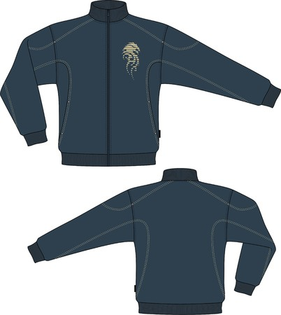 chaqueta: Chaqueta punto con una manga larga y bolsillos Vectores
