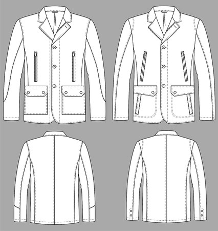 Jacket for man with a long sleeve and pockets Stock Vector - 9087936