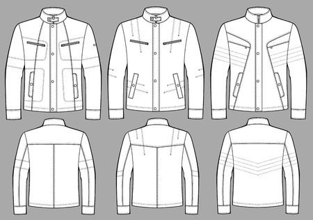chaqueta: Chaqueta de hombre con una manga larga y bolsillos