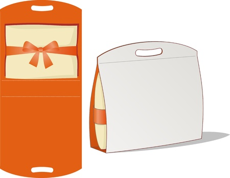 Cardboard box with the handle in the form of an aperture Illustration