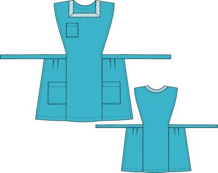 sundress: Apron-sundress with three pockets and a belt