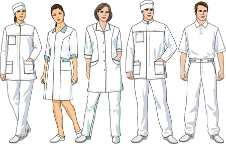nurses: Kinds of clothes for doctors and staff nurses
