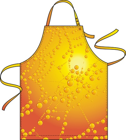 outset: Apron with the dew image on a web against the sun