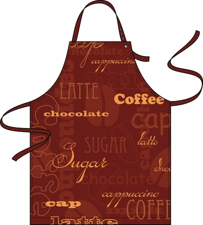 aprons: Apron from a fabric with the newspaper image