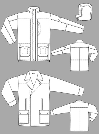 long sleeve: Two kinds of winter jackets for men with pockets