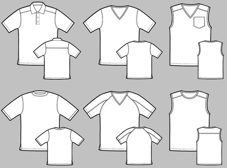 short sleeve: Various kinds of T-shirts with a short sleeve