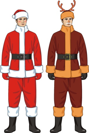 New Year suit for Santa Claus and a deer
