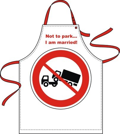 forbidding: Apron with a sign forbidding a parking of cars