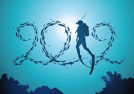 Deurstijl van vissen en de stijgende duiker vlotter in de vorm van 2012