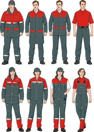 The clothes complete set consists of a jacket, trousers, a dressing gown, a T-shirt and a cap