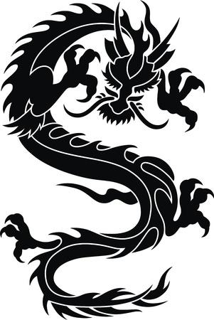 tatouage dragon: Le dragon stylisé en forme d'un tatouage
