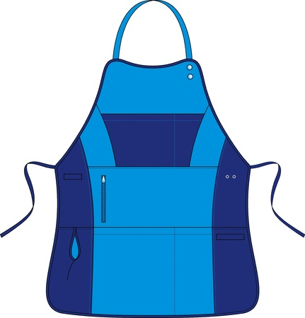 protective clothing: Apron with a shoulder strap and various multipurpose pockets Illustration