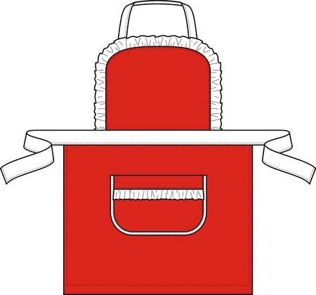 ruche: Apron for the waitress from ruches and the big pocket