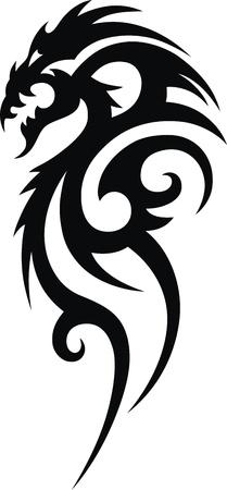 入れ墨の形で様式化されたドラゴン 写真素材 - 11770804