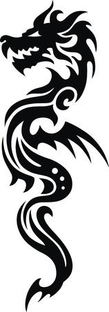 入れ墨の形で様式化されたドラゴン 写真素材 - 11770862