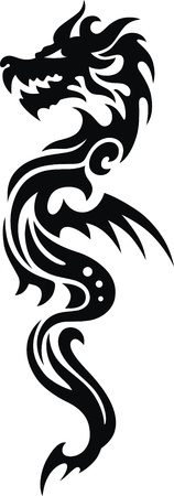The stylized dragon in the form of a tattoo Stock Vector - 11770862