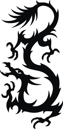 The stylized dragon in the form of a tattoo Stock Vector - 11770940