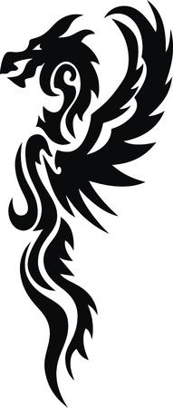 入れ墨の形で様式化されたドラゴン 写真素材 - 11962955