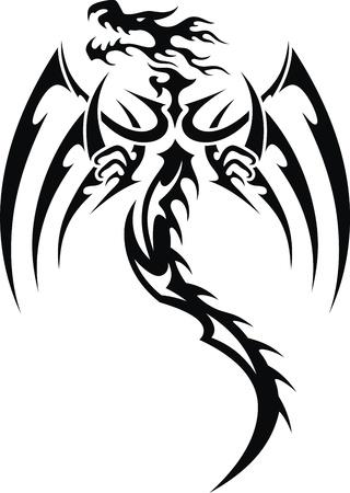 入れ墨の形で様式化されたドラゴン 写真素材 - 11962959