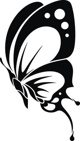 papillon dessin: L'image stylis�e du papillon sous la forme d'un tatouage Illustration