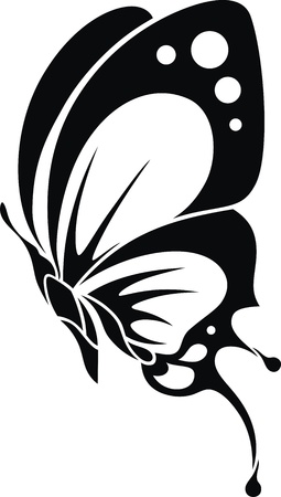 butterfly wings: The stylized image of the butterfly in the form of a tattoo