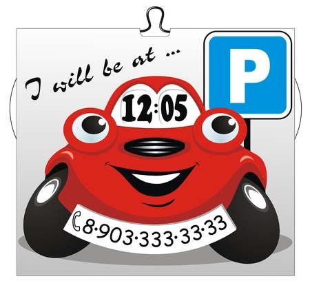 car parking: Card for a parking in places of the big congestion of cars Illustration