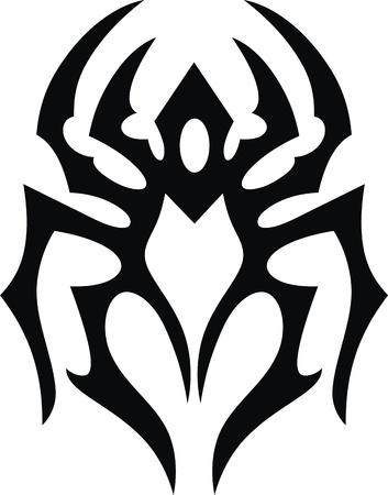 La imagen estilizada de la garrapata en forma de un tatuaje Ilustración de vector