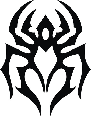 malicious: The stylized image of the tick in the form of a tattoo