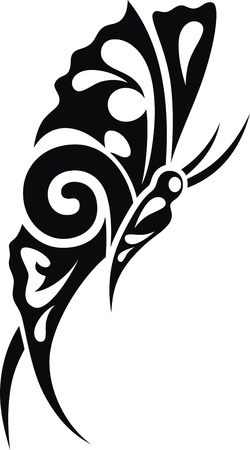 The stylized image of the butterfly in the form of a tattoo Stock Vector - 12164246
