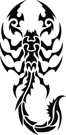 Tattoo in the form of the stylized scorpion Stock Vector - 12164247