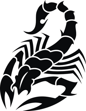 Tattoo in the form of the stylized scorpion  イラスト・ベクター素材