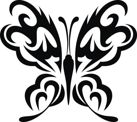 문신의 형태로 나비의 양식에 일치시키는 이미지 스톡 콘텐츠 - 12454565
