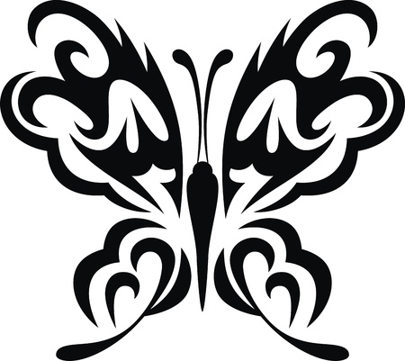 The stylized image of the butterfly in the form of a tattoo Stock Vector - 12454565