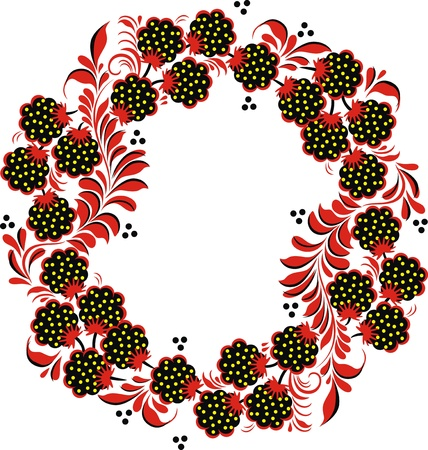 The stylized pattern in the form of berries and plants Stock Vector - 12454582