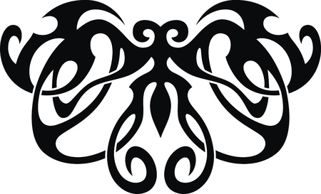 The stylized image of the butterfly in the form of a tattoo Stock Vector - 12454586
