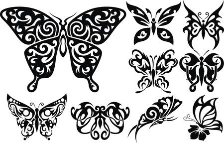 capullo: La imagen estilizada de la mariposa en forma de un tatuaje