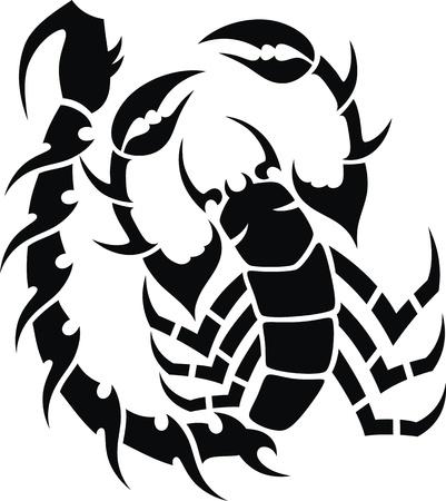 scorpion: Tatouage dans la forme stylis�e de l'scorpion