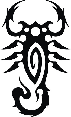 Tattoo in the form of the stylized scorpion Stock Vector - 12454594